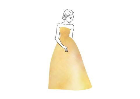穿黃色裙子的女人
