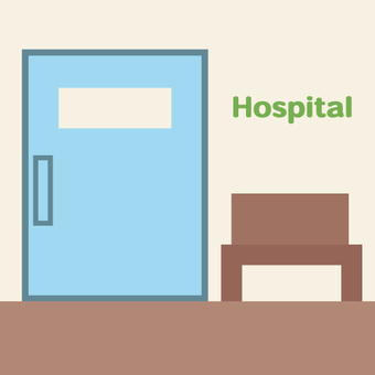 Image of hospital examination room