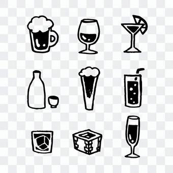 酒精的圖標