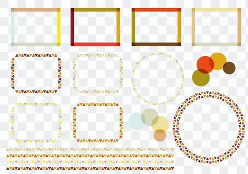 Autumn color frame set geometry