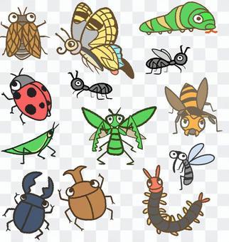 夏の虫たち