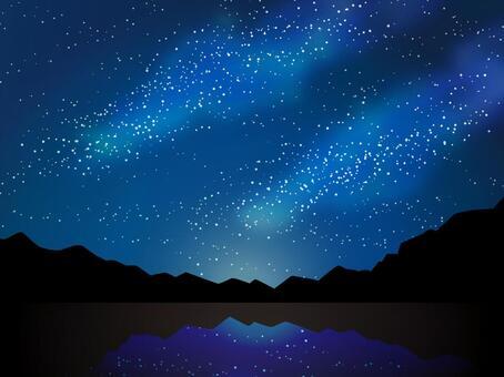 滿天星斗的星空銀河七夕