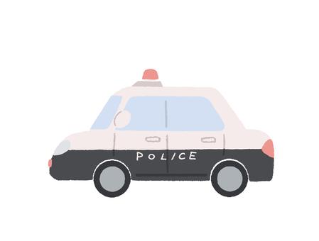 警車的插圖