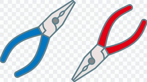 無線電鉗子圖紅色藍色藍色紅色