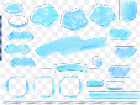 Watercolor layout_blue sky 2
