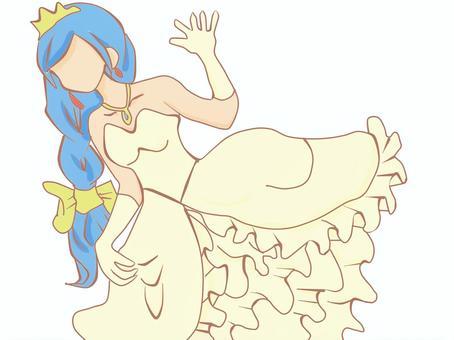 Wedding dress (Princess)