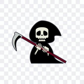 Illustration of cute grim reaper