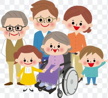 6人家族(車椅子)