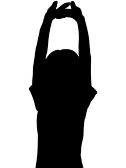 Female tall silhouette black and white