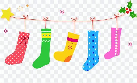 Winter socks illustration