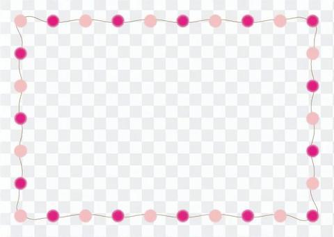 粉紅色的點框架
