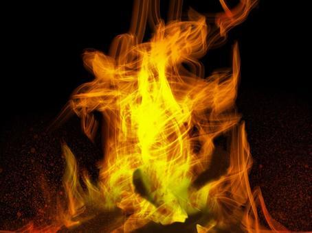 Flame bonfire charcoal