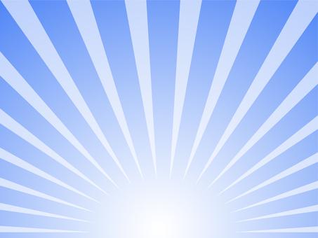 集中線下方的冷藍色背景