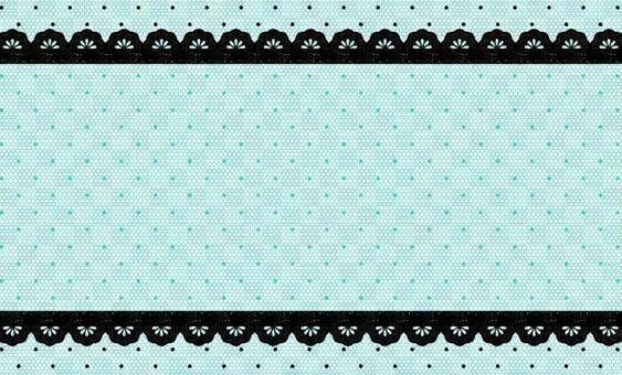 Business card lace dot pattern tulle frame
