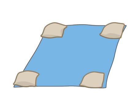 藍板壓沙袋