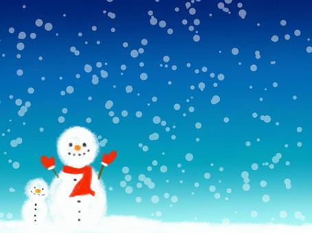 冬天背景雪人1