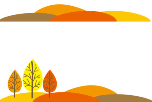 秋天的樹葉山景觀框架