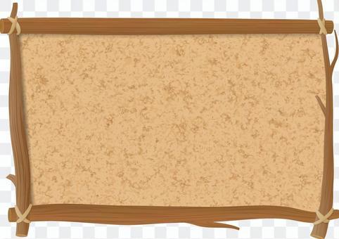 板條箱的軟木板