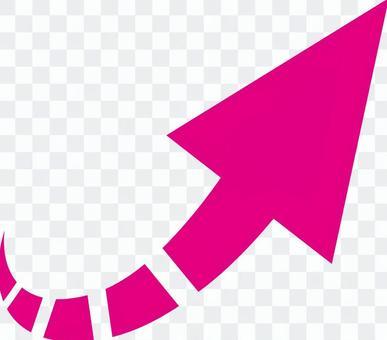 箭頭_右對角_粉紅色