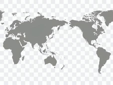 世界地図_シルエット