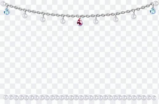 珠寶和珍珠框架