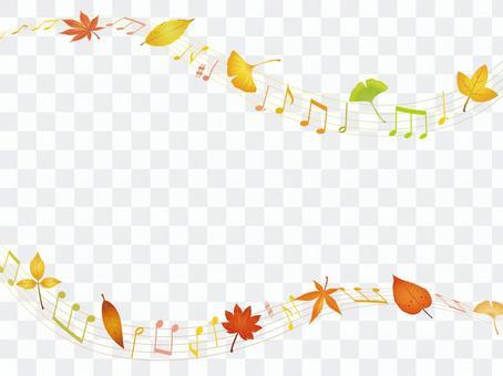 Autumn leaves · autumn leaves streamline note frame 03