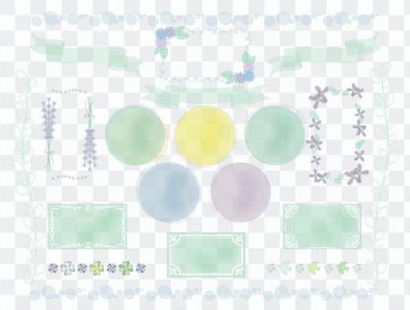 水彩風格蓬鬆框架(初夏)