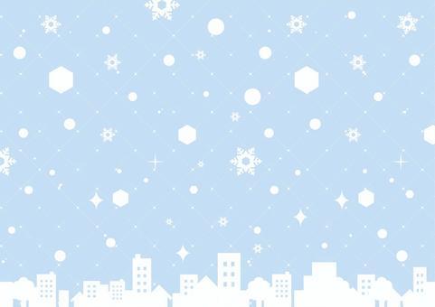冬_雪背景02
