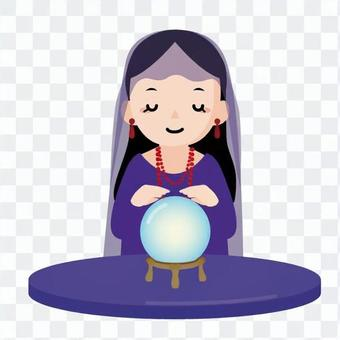 Crystal fortune telling