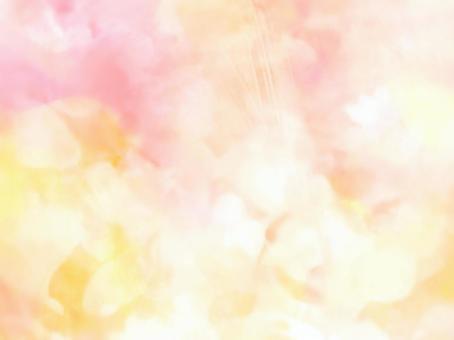 粉色和黃色的蒼白水彩紋理背景