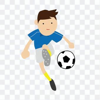 一個足球男孩