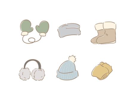 Winter accessory dull color