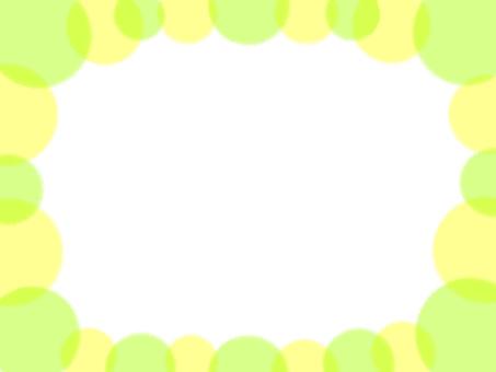 연두색 물방울 프레임