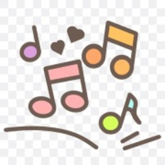 Musical note music iridescent pastel colorful