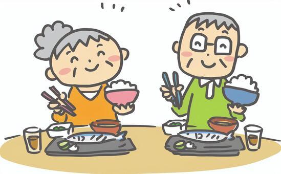 老夫婦_食事