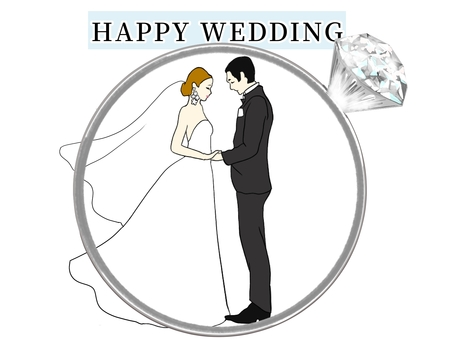 Two characters in the wedding ring