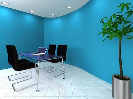 公司會議攤位(藍色)