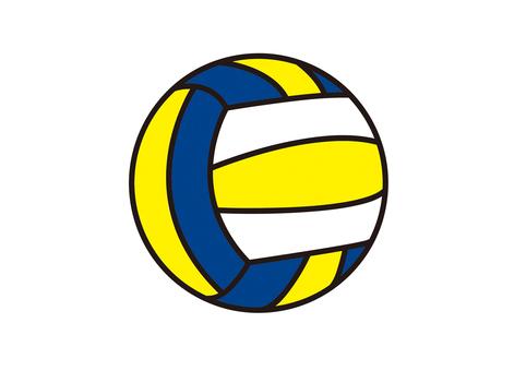 排球黃色x藍色