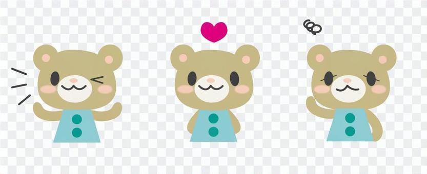 Kuma-chan expression set