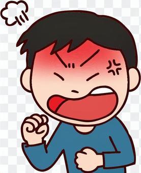 一個憤怒的男孩的例證