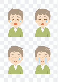 老人man_crying臉集