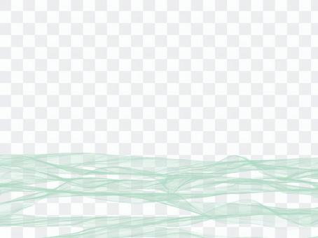 3d紋理波狀線綠色
