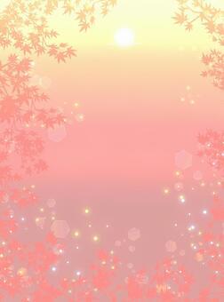 秋天的落葉之間看到一個令人眼花morning亂的早晨