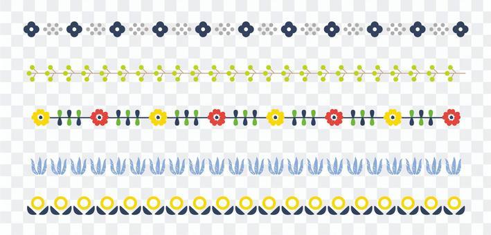 線裝飾04斯堪的納維亞花卉圖案