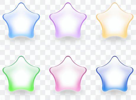 玻璃材料星形