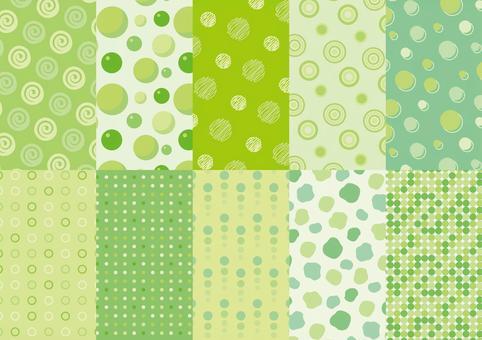綠色圓點圖案