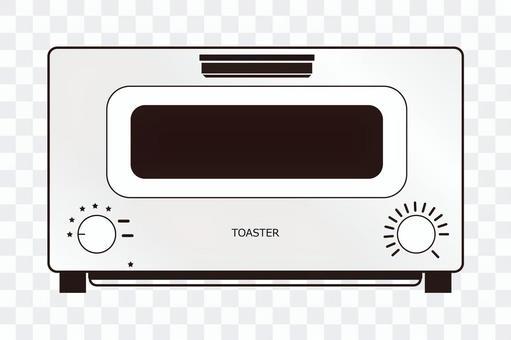 烤麵包機白色圖