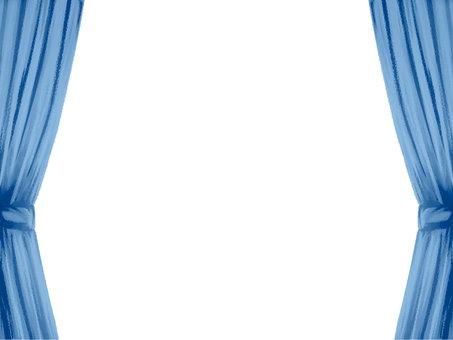 捆綁窗簾藍色