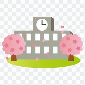 Spring school building