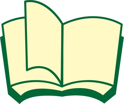 打開書 A 綠色